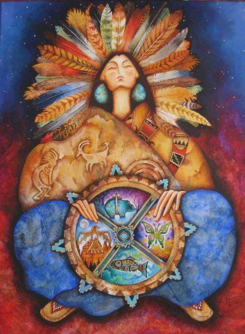 A mãe terra acolhe em seu corpo a toda as direções_